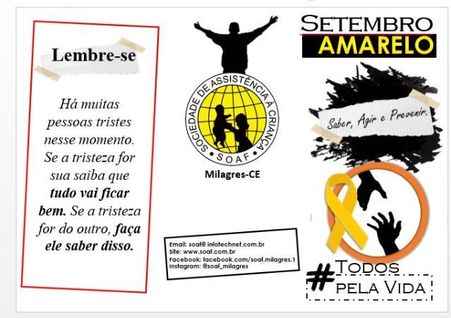 Setembro Amarelo: Saber, agir, Prevenir!