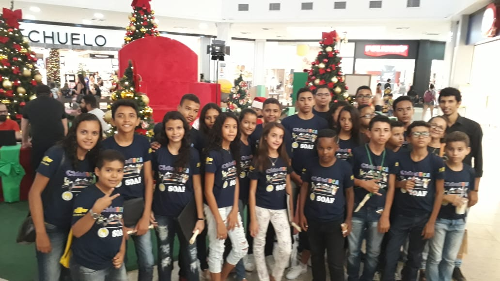 Cariri Shopping recebe crianças da SOAF