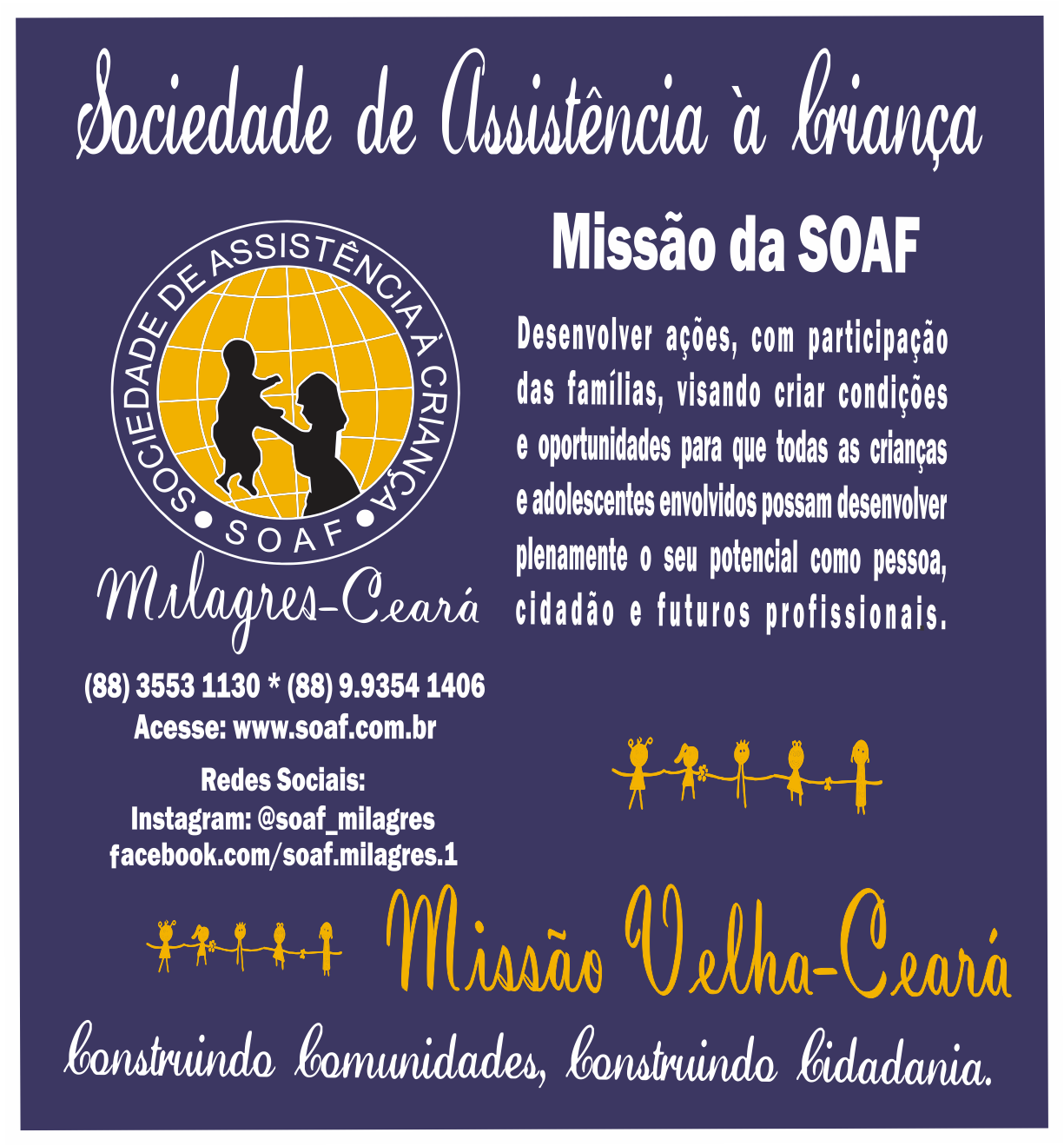 SOAF expande área de atuação para Missão Velha