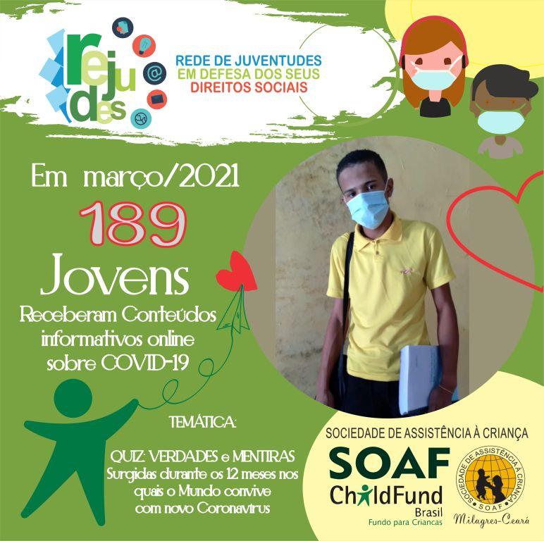 Jovens da SOAF participam de Quiz sobre COVID-19